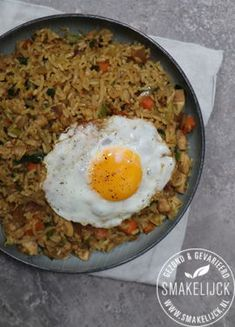 Nasi Goreng, Asian Recipes, Ethnic Recipes, Food N, Rice Dishes, No Cook Meals, Food For Thought, Food Inspiration, Vegan Vegetarian