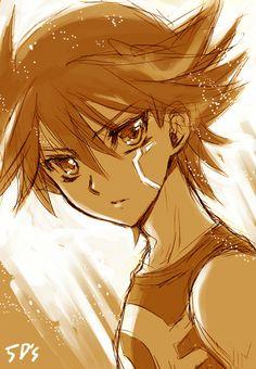 anime Yusei Fudo from yugioh 5ds