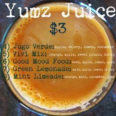 $3.00 Yumz juice