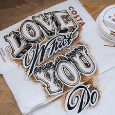 Coffee Time: I Use Paper Coffee Cups To Create Elaborate Typographic Illustrations | Bored Panda