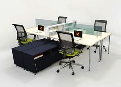 Office Workstations Mayline e5 2 - Mayline e5 office workstations are to go-anywhere, do-anything furniture solution for today's collaborative workplaces requiring a level of interaction and co-working that panel systems just won't allow. #officeworkstations