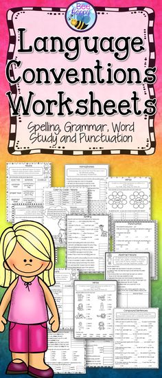 25 worksheets to review language conventions featuring spelling, grammar, word study and punctuation. Although these printables are aligned with the Australian Curriculum English Year 2 & 3 and can be used as test preparation for Year 3 NAPLAN, they are also relevant to all other countries. Answers and UK/Aus spelling variations included.