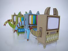 These Monster TV's by Machintoy are so cute! Follow the link for templates to make your own!