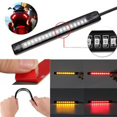 pack gauge fuse holders in line fuses awg ato dzt1968 universal flexible 18 smd led motorcycle atv tail brake stop turn signal strip light