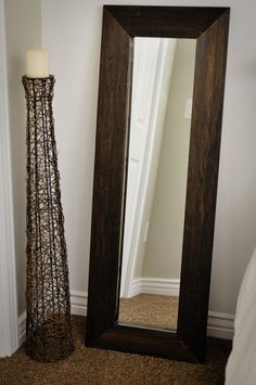 think i will do this with my slab of mirror DIY Mirror