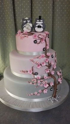 My Totoro Wedding Cake Made By Celebration Stations In Perth Scotland Toppers