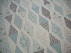 A Quilting Life - blue and gray baby quilt