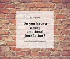 What makes your #foundation strong? Will is stand a #crisis? Will it crumble to the ground? Practicing #selfcare goes a long way. You have to train yourself to respond to the little #stresses in order to be able to handle the big ones. Check out my last blog that talks all about this @familiarembrace
