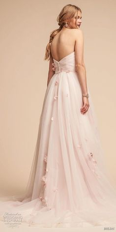bhldn spring 2018 bridal strapless sweetheart neckine wrap over ruched bodice light embellishment romantic pink a  line wedding dress (20) bv -- BHLDN Spring 2018 Wedding Dresses