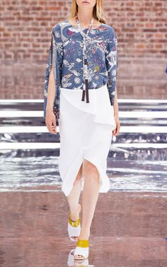 Fantastic Journey Printed Blouse by DOROTHEE SCHUMACHER for Preorder on Moda…