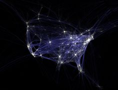 Flight Patterns by Aaron Koblin #Digital_Media #Science_Visualization #Data_Visualization