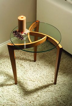 Three-legged Occasional Table | Popular Woodworking Magazine Couch Table, Table And Chair Sets, Modern Furniture, Home Furniture, Furniture Ideas, Furniture Design, Traditional Artwork, Popular Woodworking, Woodworking Ideas