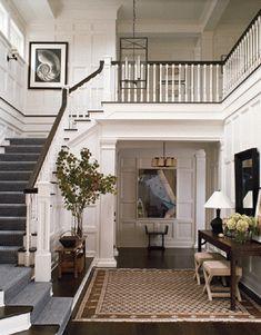 All White Foyer