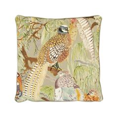 Discover the Mulberry Home Game Birds Velvet Cushion - 50x50cm at Amara