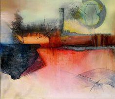 """Agnes Lang, """"Industrielandschaft"""" (5)  Mit einem Klick auf """"Als Kunstkarte versenden"""" versenden Sie kostenlos dieses Werk Ihren Freunden und Bekannten."""