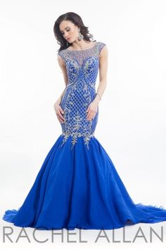 Sweetheart mermaid with sheer neckline. Order today by calling Everything for Pageants at 1-815-782-8877 and ask for our current promotions.
