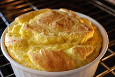 Southern spoonbread. I love spoonbread. Its creamy goodness is pure comfort food. But it's pretty enough to serve for company. Serve hot with lots of butter.