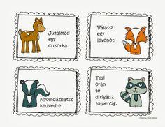 Játékos tanulás és kreativitás: magatartás értékelése Lob, Funny Games, Woodland Animals, Primary School, Classroom Decor, My Children, Games For Kids, Kids Learning, Diy And Crafts