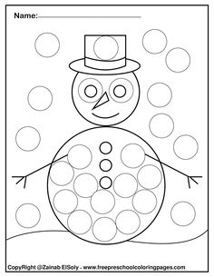 winter do a dot marker free printable preschool coloring pages ,winter painting activity for kids Abc Coloring Pages, Preschool Coloring Pages, Free Printable Coloring Pages, Kids Tablet, Do A Dot, Painting Activities, Teaching The Alphabet, Winter Painting, Dot Painting