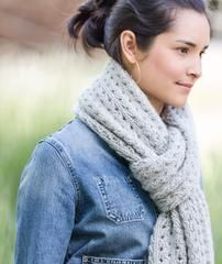 Ribbed Lace Scarf - Rowan Cocoon Version