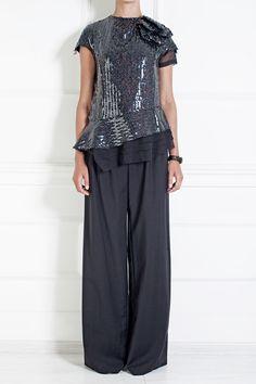 Шерстяные брюки Derek Lam (фото)