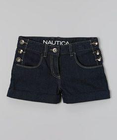 Look what I found on #zulily! Dark Wash Denim Shorts - Girls by Nautica #zulilyfinds