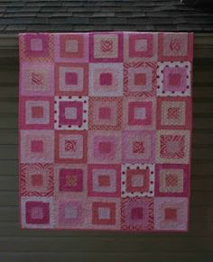 crazy mom quilts: how to make a ragged squares quilt (with different colors)