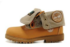Fashion Winter yellow Timberland Kids Roll Top Shoes Wheat Birch