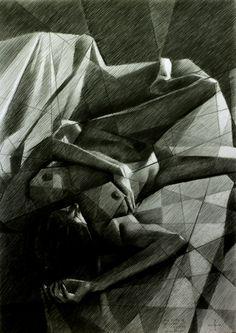 Lying nude - 16-11-14, graphite on paper (29,7 x 42 cm - A3 format) (for sale / te koop) see more: www.corneakkers.com Sales info: info@corneakkers.com. See more: www.corneakkers.com. Follow me at twitter: @Corne_Akkers #arts #kunst #Corné #Corne #Akkers