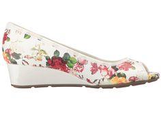 Anne Klein Women Sport Camryne Wedge Pump -White/Floral