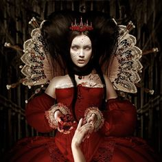 Surreal Creatures by Natalie Shau- the girl in the red dress reminds me of Carmilla from Vampire Hunter D