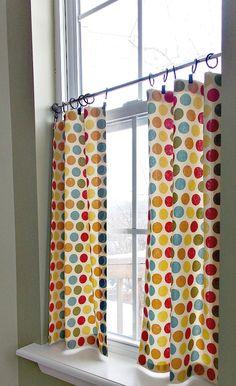 DIY no sew cafe curtains                                                                                                                                                                                 More