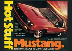 """Mustang's """"New Breed"""" of 1979 was a new kind of Ford pony car, but it was still every inch a Mustang. Learn more about the Ford Mustang. Volkswagen Golf Mk2, Automobile, Pony Car, Us Cars, Painting Edges, Stretched Canvas Prints, Print Ads, Cotton Canvas, Art Prints"""