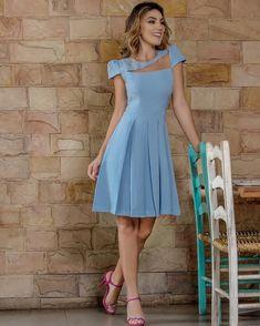 """468 curtidas, 20 comentários - Mfibramodas (@mfibramodas) no Instagram: """"Apaixonadissíma por esse look!!! #evangelicascomstylo #azul #vestidos #vestidoblue #blue #vestido…"""""""
