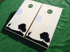 Deer Cornhole Sets are perfect for the outdoorsy type! Order yours TODAY at www.ajjcornhole.com