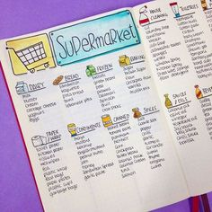 """30 Likes, 3 Comments - Planner Inspiration (@christina77star) on Instagram: """"My master shopping list is one of my most visited pages in my bullet journal. I check it every week…"""""""