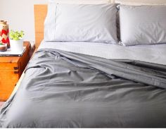 1000 thread count hotel sheets charcoal and silver stripe - win an I Love Linen $120 voucher