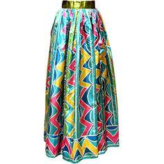 Preowned Vintage Oscar De La Renta Multi Color Taffeta Maxi Skirt-sz 4... ($1,100) ❤ liked on Polyvore featuring skirts, maxi skirts, blue, long blue skirt, long skirts, vintage skirts, taffeta skirt and maxi skirt
