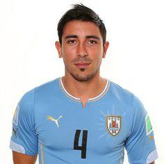 Jorge Fucile of Uruguay poses