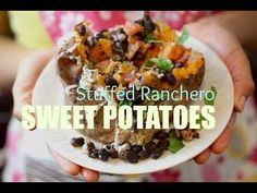 Stuffed Ranchero Sweet Potato Recipe | Food Heaven Made Easy