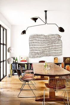Get the Look: An Artistically Rustic Dining Room via @domainehome