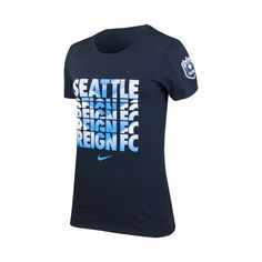 Women s Seattle Reign FC Chevron Crew Cotton Tee - Black Soccer League 9c7452a31ea58