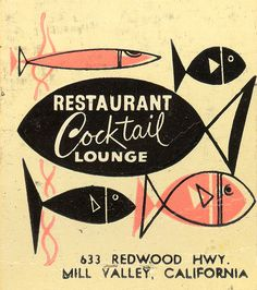 Restaurant Cocktail Lounge Matchbook