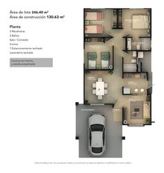 Image result for 2 BHK floor plans of 24 x 60 | House plans ... on