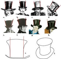 Flared Top Hat Mad Hatter pt. 1- tips and instructions for making a top hat