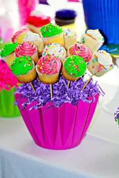 Cupcakes Birthday Party Ideas | Photo 8 of 10 | Catch My Party