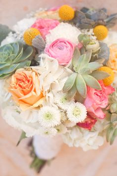 """nothing like succulents in a bouquet! """"#Ruffled for #TheLab2013: http://ruffledblog.com/the-lab-event-giveaway"""""""