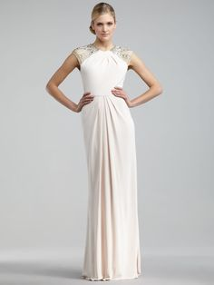 Sheath/Column Halter Sleeveless Floor-length Chiffon Evening Dress #WX487