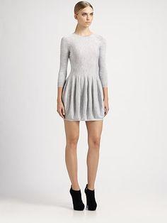 Alexander McQueen - Tulip Sweatshirt Mini Dress - Saks.com