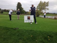"Special #golf outing for our late ""Uncle Mike"" Ouwerkerk. Chilly Sunday with many warm friends. #TraverseCity, #tcmi"